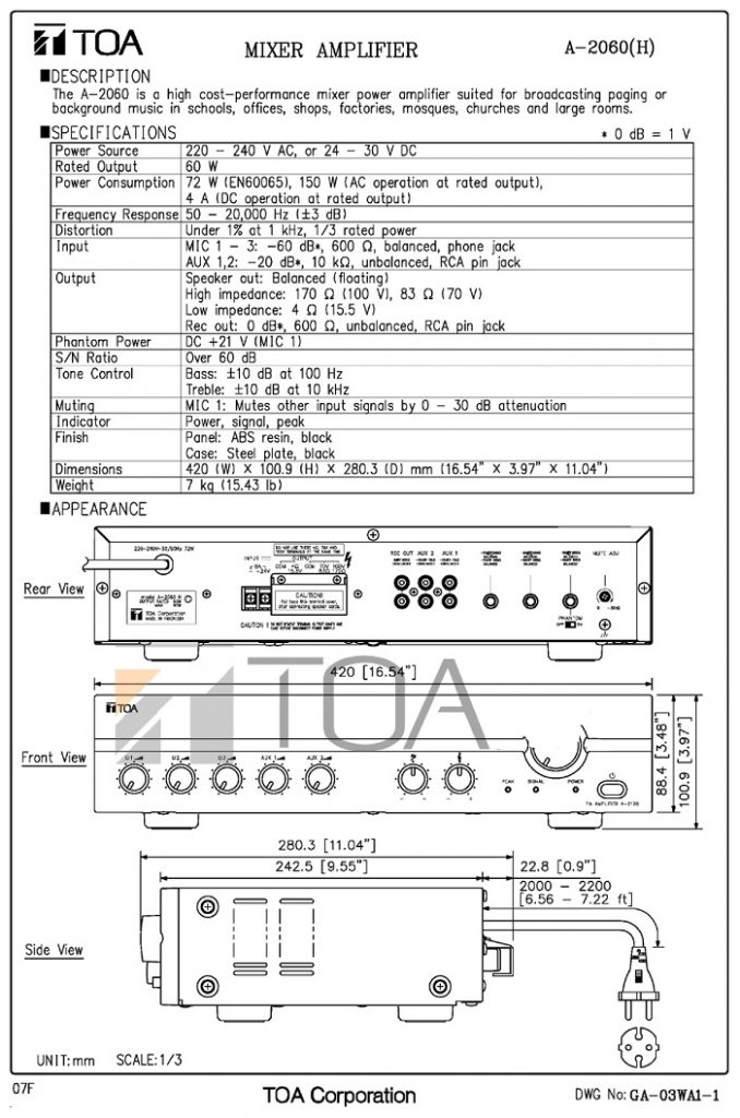 Bản vẽ catalog A2060