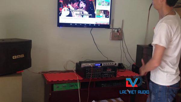 Lắp đặt BMB 450 bãi trong dàn karaoke gia đình