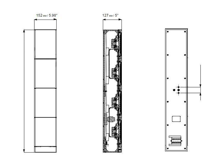 bản vẽ Loa cột bosch LA1-UW36-D
