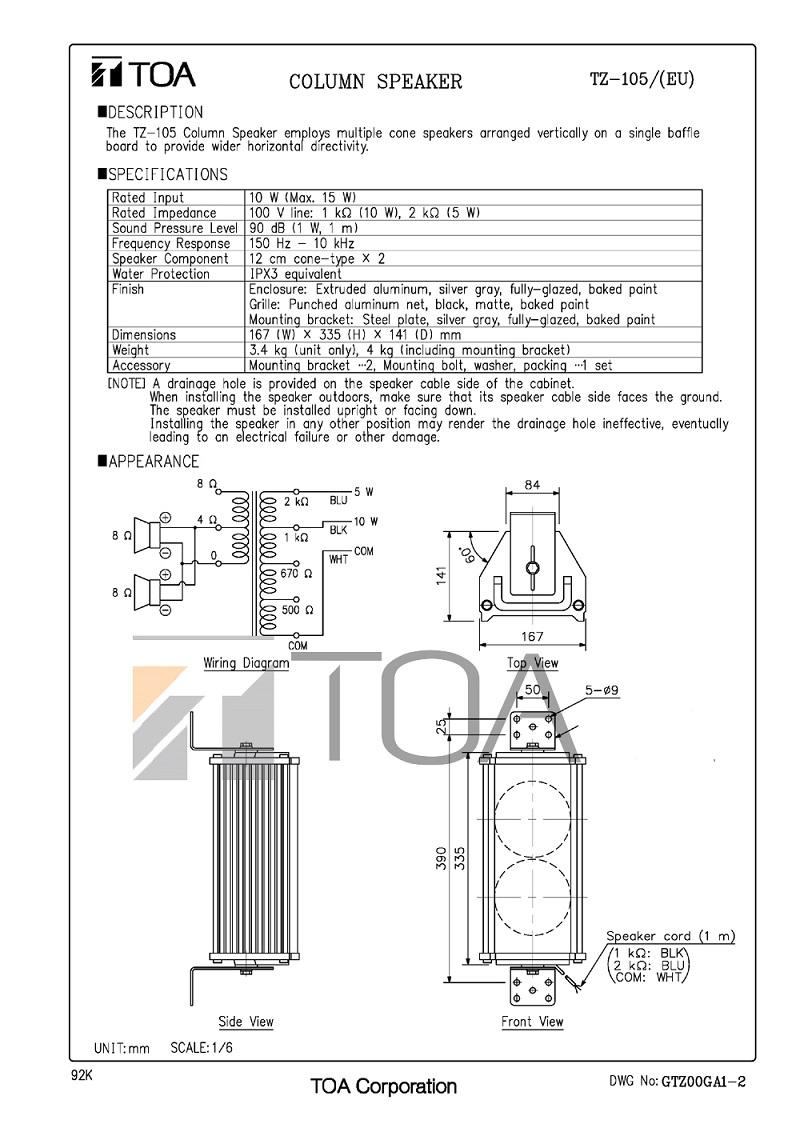 Bản vẽ TOA TZ 105
