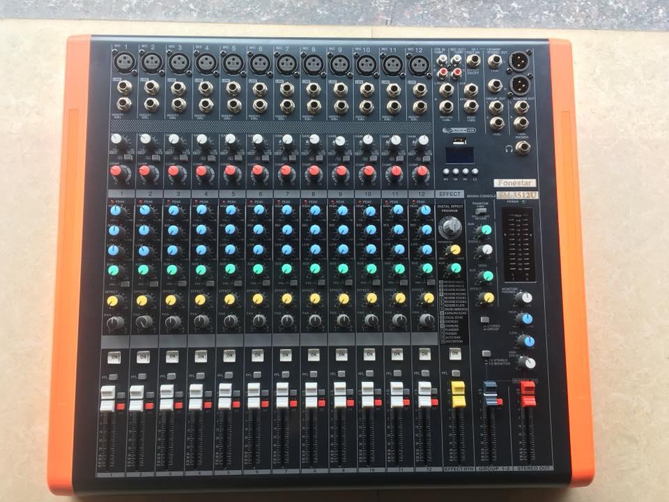 Mixer 12 kênh Fonestar SM 3512U