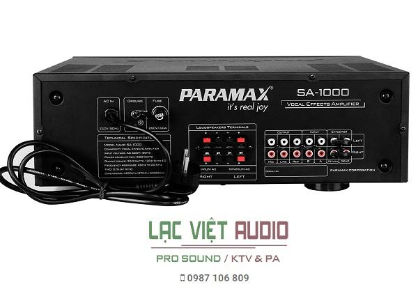 Mặt sau Paramax SA-1000