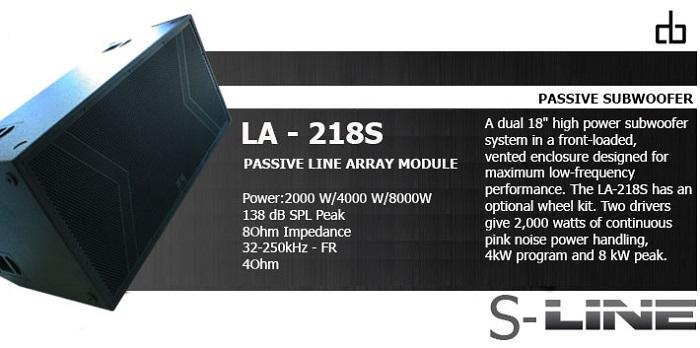 Loa subwoofer DB LA 218s