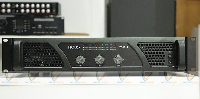 Cục đẩy Công suất HOUS TC-3815 với 3 kênh khuếch đại mạnh mẽ