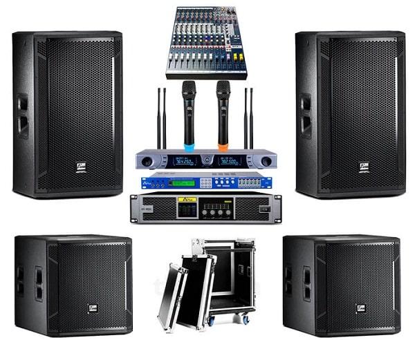 Dàn âm thanh hội trường nhỏ cần đảm bảo về công suất, phối ghép thiết bị